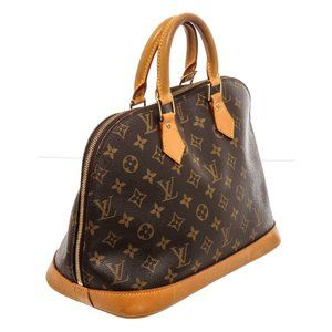 Louis Vuitton Monogram Canvas Leather Handbag